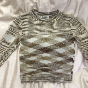 Lanvin Paris glitter plaid sweater